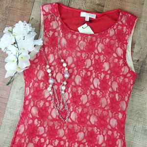 Miss Me MM Couture Lace Dress Red